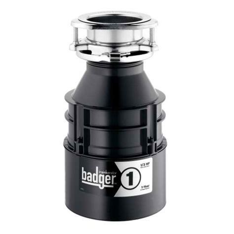 badger 1 in sink erator garbage disposal