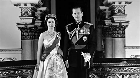 Photo by unknown in 1958 of Queen Elizabeth II & Prince