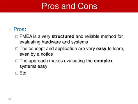 design engineer pros and cons fmea most common risk assessment method in industry