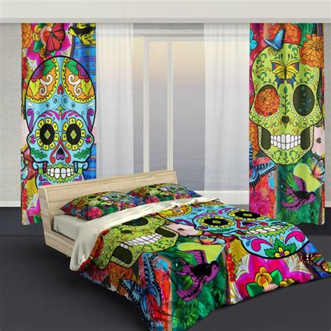 skull bedroom curtains 101 best dia de los muertos images on pinterest mexican