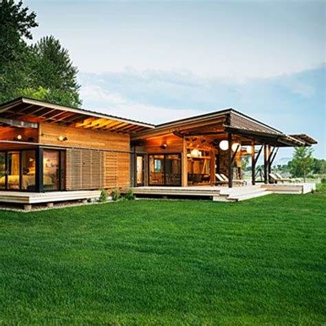 modern ranch houses prefab montana ranch style euro style home blog