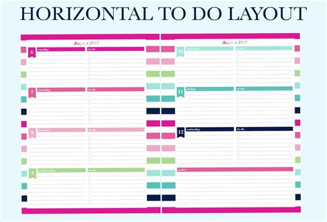 printable planner layouts finally a planner that matches your planning needs