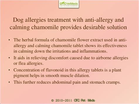 anti allergy dogs anti allergy and calming chamomile tablets for pets