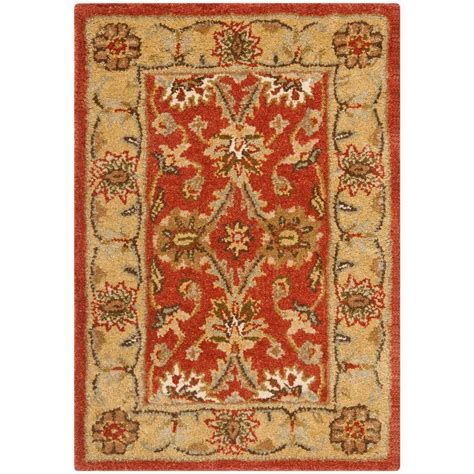 3 X 4 Area Rugs Safavieh Antiquity Rust Gold 2 Ft 3 In X 4 Ft Area Rug At249c 24 The Home Depot