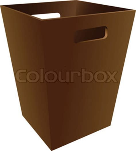 a wooden trash bin for the office. vector illustration