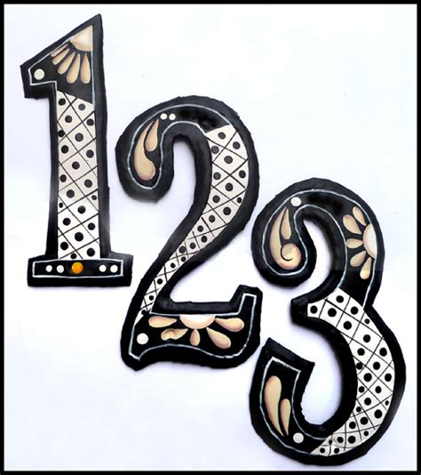 decorative house numbers decorative house numbers 28 images handcrafted painted metal house numbers outdoor
