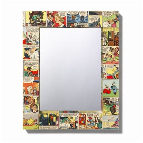 Decoupage Mirror - comic decoupage mirror
