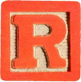 r in block letters multi tongue the quot r quot issue