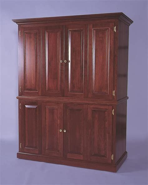 Amish Computer Armoire by Amish Deluxe Computer Armoire Desk Ps Computers And Computer Armoire