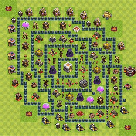 coc layout planner clash of clans layout level 11