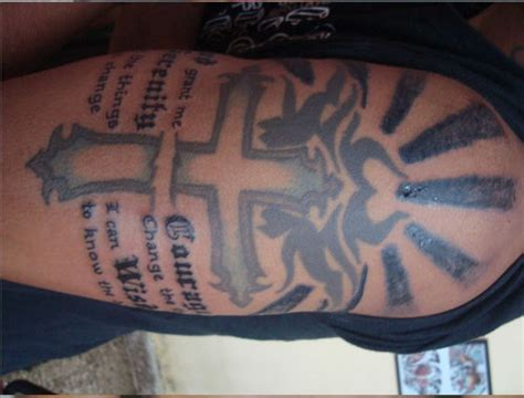 cross tattoo with verse tribal bible verse studio design gallery
