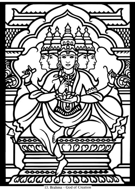 hindu godsa0 free colouring pages