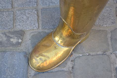 boot shaped boot shaped hammered brass miscellaneous galerie des