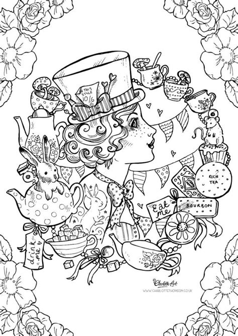 coloring books for adults disney colouring page mad hatter in