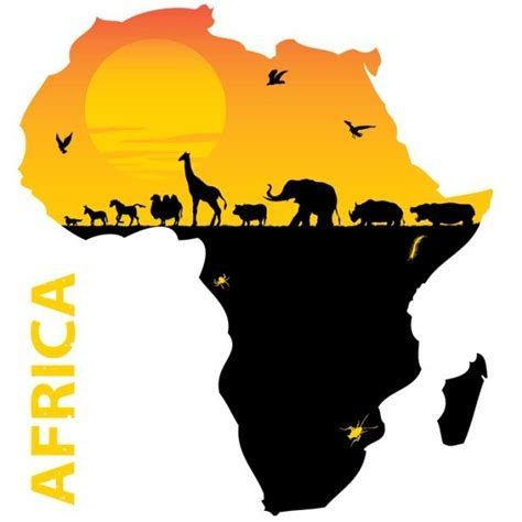 africa map clipart is africa a country or a continent