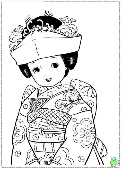 coloring pages of japanese dolls awana sparky coloring pages