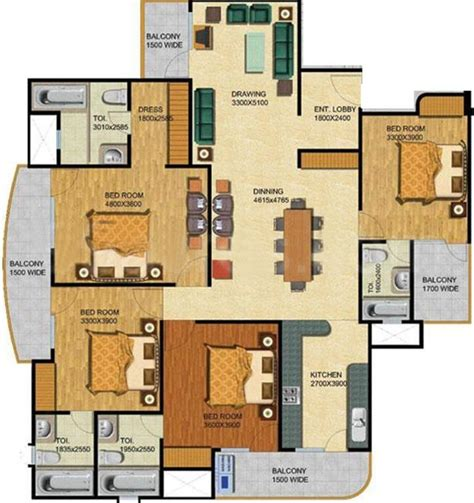 1850 sq ft 4 bhk 4t apartment for sale in shubhkamna advert apartments sector 50 noida