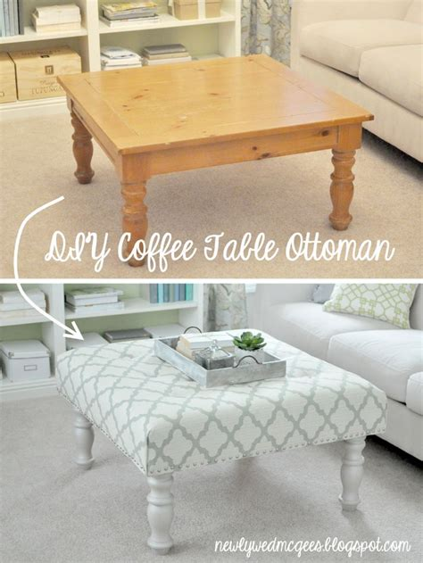 how to make a tufted ottoman coffee table diy upholstered tufted ottoman