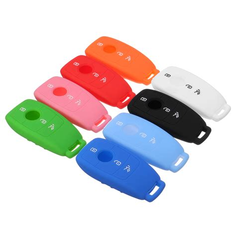 car silicone rubber remote key cover for mercedes