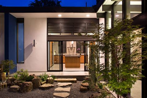 atrium house modern atrium house by klopf architecture