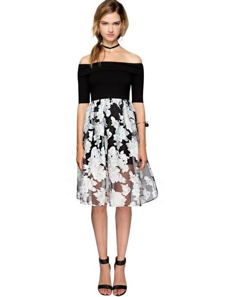 Get The Look Black White Floral Dresses For 100 by Dress Dress Sequin Dress Midi Dress Lace Dress
