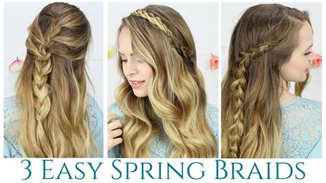 spring curlyhaired tutorial 3 quick and easy spring braids hair tutorial doovi