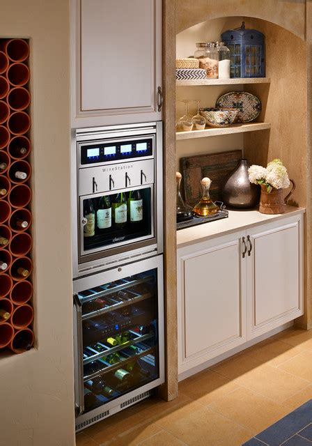 Wine Station In Kitchen by Dacor Stainless Steel Wine Station Transitional