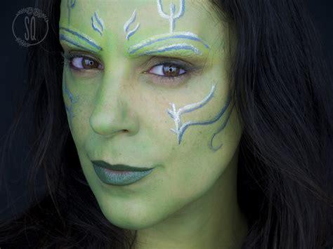Maskara Eyeliner gamora transformation makeup tutorial quir 243 s