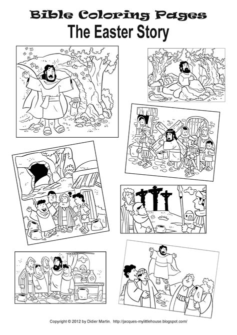 My Little House March 2012 Story Coloring Pages