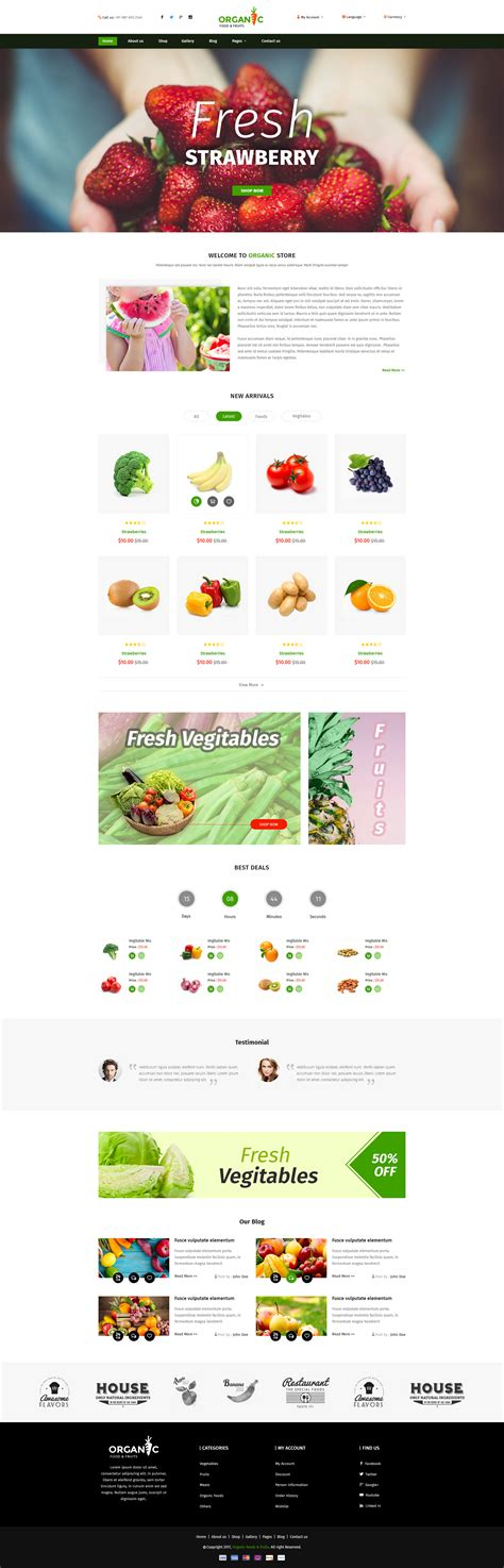 themeforest organic food organic food and fruits template by tmdstudio themeforest
