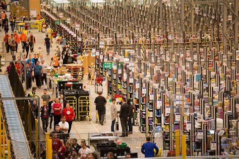 this is amazon s incredibly massive warehouse one month