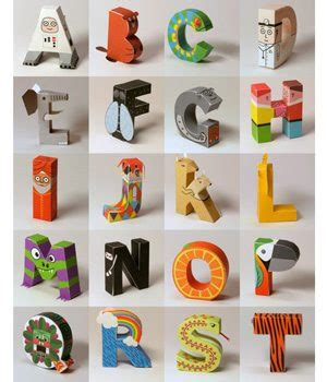 Awesome Papercraft - check out this awesome papercraft alphabet set