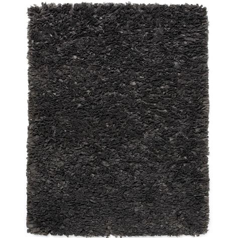 gray shag rug anji mountain gray paper shag 8 ft x 10 ft area rug amb0453 0810 the home depot
