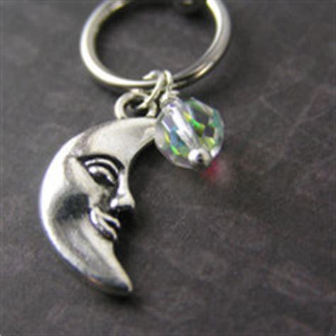 16g Crescent Moon Ear Cartilage Tragus Earring Stud Post Celtic Knot 16g From Azeeta Designs