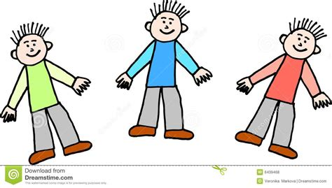 clipart picture three boys stock vector image of illustration isolated