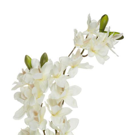 artificial cymbidium spray orchid cream