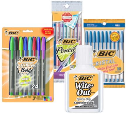 new bic stationary product printable freebies at staples freebies cheapies bic stationary products at target