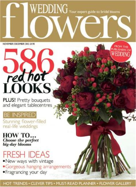 flower wedding magazine wedding flowers magazine nov dec 2012 subscriptions pocketmags
