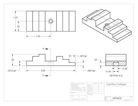 mttce technical drawing blueprint reading autocad