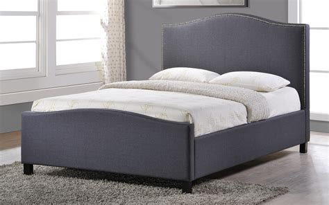 Studded Bed Frame Chrome Studded Grey Fabric Bed Frame King Size 5ft Free Next Day Delivery