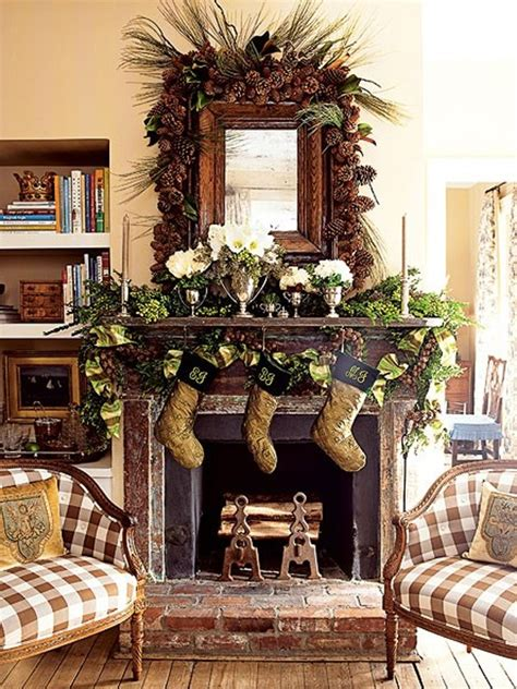 pretty home decor christmas room decoration with fireplaces design