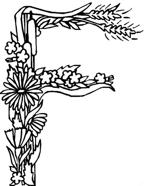 alphabet coloring pages with flowers kids n fun com 26 coloring pages of alphabet flowers