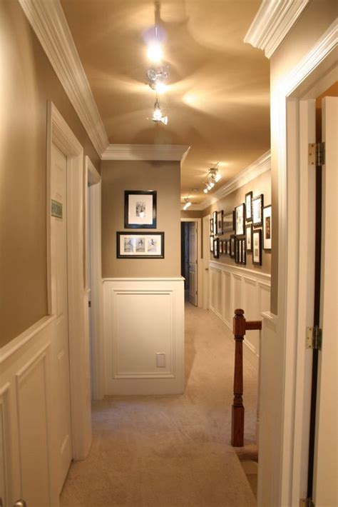 and trim guest house tour paint colors the and upstairs hallway