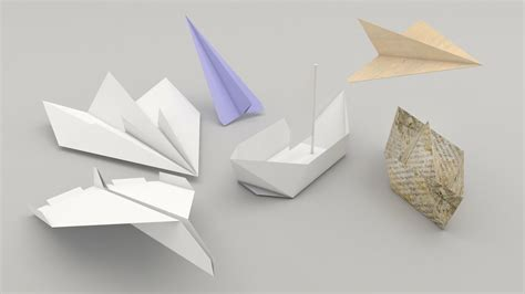 3d Origami Airplane - 3d origami plane ship