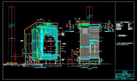 tube water boiler  psig dwg block  autocad