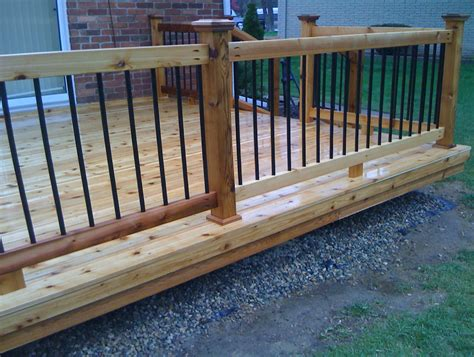 Metal Deck Balusters For Sale Wood Deck Railing With Metal Balusters Home Design Ideas