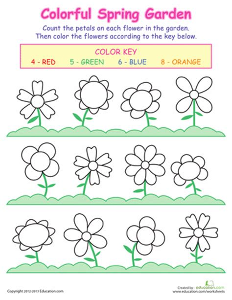 printable worksheets about flowers counting flowers worksheets preschool printables and school