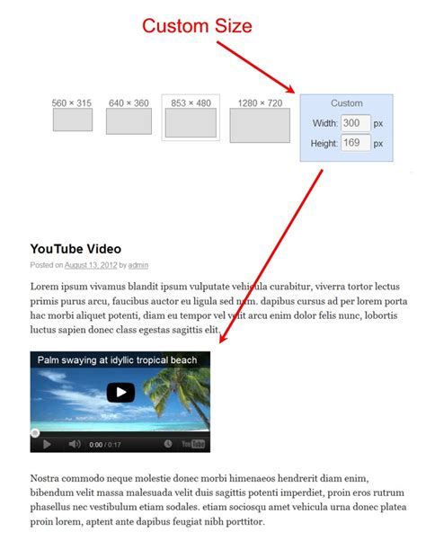 blogger youtube video size add youtube video to wordpress a step by step guide