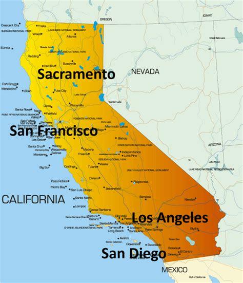 usa map los angeles san francisco america san francisco map