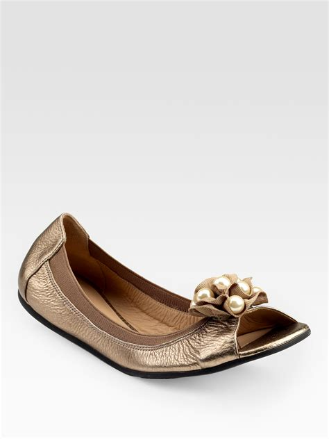 jeweled flats shoes kate spade bindi jeweled ballet flats in brown chagne